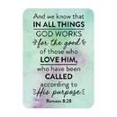 Christian Brands F1280 Verse Card - Romans 8:28