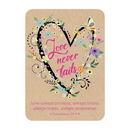 Christian Brands F1285 Verse Card - Love Never Fails
