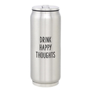 Christian Brands F1411 Large Stainless Steel Can - Happy Thoughts