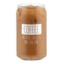 Christian Brands F1420 Iced Coffee Glass - Coffee Because