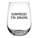 Christian Brands F1448 Stemless Wine Glass - Surprise! I'M Drunk