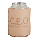 Christian Brands F1455 Leather Coozie - C.E.O