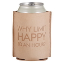 Christian Brands F1457 Leather Coozie - Happy Hour