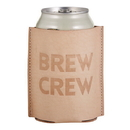 Christian Brands F1460 Leather Coozie - Brew Crew