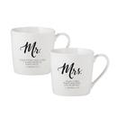Faithworks F1818 Cafe Mugs Mr & Mrs Set