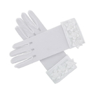 Sacred Traditions F2017 First Communion Gloves w/ Rosebuds