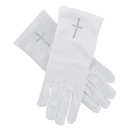 Sacred Traditions F2018 First Communion Satin Gloves w/ Pearl Cross