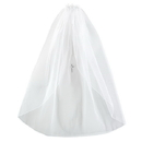 Sacred Traditions F2022 Satin Bow HeadBand w/ Pearl Cross First Communion Veil