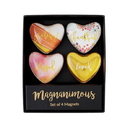 Christian Brands F2175 Magnanimous Gift Set-C - Grateful Thankful Blessed- Set Of 4 Magnets