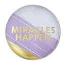 Christian Brands F2199 Magnanimous Round Magnet-C - Miracles Happen