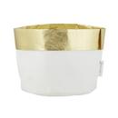 Christian Brands F2675 Washable Paper Holder - Large - White/Gold