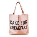 Christian Brands F2772 Rose Gold Tote - Cake For Breakfast