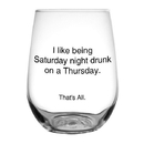 Christian Brands F2810 That'S All&Reg; Stemless Wine Glass - Saturday Night Drunk