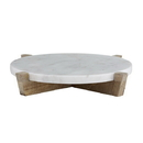Christian Brands F2834 Marble Tray + Mango Wood Stand - Natural