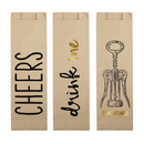 Christian Brands F2848 Paper Wine Bags - Cheers Assortment