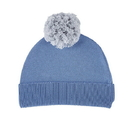 Stephan Baby F2991 Knit Hat - Grey/Blue, 6-12 Months