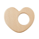 Stephan Baby F3011 Heirloomed Wood Teether - Heart