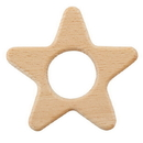 Stephan Baby F3012 Heirloomed Wood Teether - Star