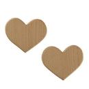 Stephan Baby F3039 Wood Hooks - Heart 2 Pack