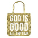 Faithworks F3352 Metallic Tote Bag - God is Good - Gold
