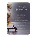 Christian Brands F3402 Verse Card - Just Breathe