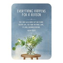 Christian Brands F3410 Verse Card - Everthing Happens for a Reason