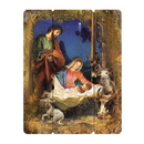 Gerffert F3519 Wood Pallet Sign - Nativity