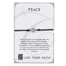 Creed F3948 Live Your Faith - Peace Bracelet - Black