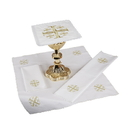 RJ Toomey F3993 Jerusalem Cross Altar Linen Gift Set (Purificator, Corporal, Chalice Pall and Lavabo Towel)