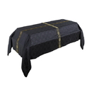Cambridge F3997 12' Black Avignon Funeral Pall with Gold banding