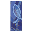Celebration Banners F4035 Symbols Of The Liturgy Series X-Stand Banner - Ichthus