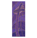 Celebration Banners F4038 Symbols of the Liturgy Series X-Stand Banner - Cross w/ Crown of Thorns