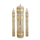 Will & Baumer F4138 Cross & Rings Wedding Candle Unity Set