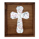 Christian Brands F4170 Wall Sign - Walnut Stain w/ Spring  Floral Pattern