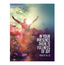 Christian Brands F4218 Square Magnet - In Your Presence is Fullness of Joy