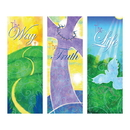 Celebration Banners F4449 Life in Christ Series X-Stand Banners - Set of 3
