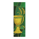 Celebration Banners F4535 Symbols of Liturgy Series X-Stand Banner -Chalice & Wheat