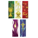 Celebration Banners F4536 Symbols of the Liturgy Series Banners - Set of 5