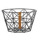 Christian Brands F4554 Gratitude - Wire Baskets - Black-Circle
