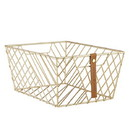 Christian Brands F4555 Gratitude - Wire Baskets - Gold-Rectangle