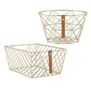 Christian Brands F4681 Pack Smart - Wire Baskets - Gratitude - Gold - 4pcs
