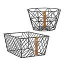 Christian Brands F4682 Pack Smart - Wire Baskets - Gratitude - Black - 4pcs