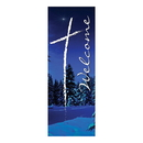 Celebration Banners F4696 Welcome Series X-Stand Banner - Winter