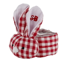 Stephan Baby F4811 Boo-Bunnie® - Red Gingham