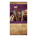 Celebration Banners F4922 3' x 5' Easter Series Banner - Forgiven It is Finished
