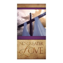 Celebration Banners F4924 3' x 5' Easter Series Banner - No Greater Love