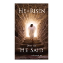 Celebration Banners F4929 3' x 5' Promise Series Banner - He is Risen As He Said