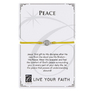 Creed F4985 Live Your Faith - Peace Bracelet - Gold
