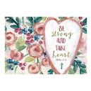 Christian Brands G0079 Postcard - Be Strong Take Heart