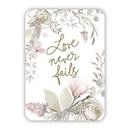 Christian Brands G0141 Verse Card - Love Never Fails
